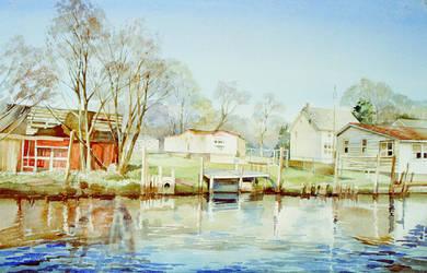Old barn by LenaAkhumova