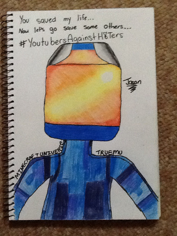 minecraft youtubers draw my life