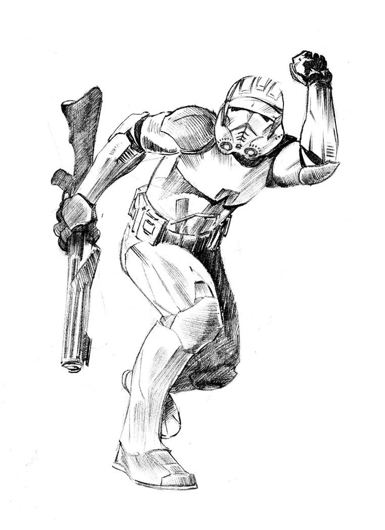 Clone Trooper Commander Cody Coloring Pages Coloring Pages