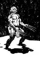 Weapon X Wolverine inked in Manga Studio by Paul-Moore