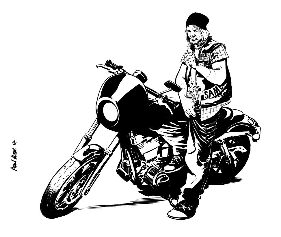 sons of anarchy logo drawing