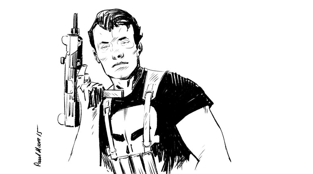 Punisher sketch by Paul-Moore