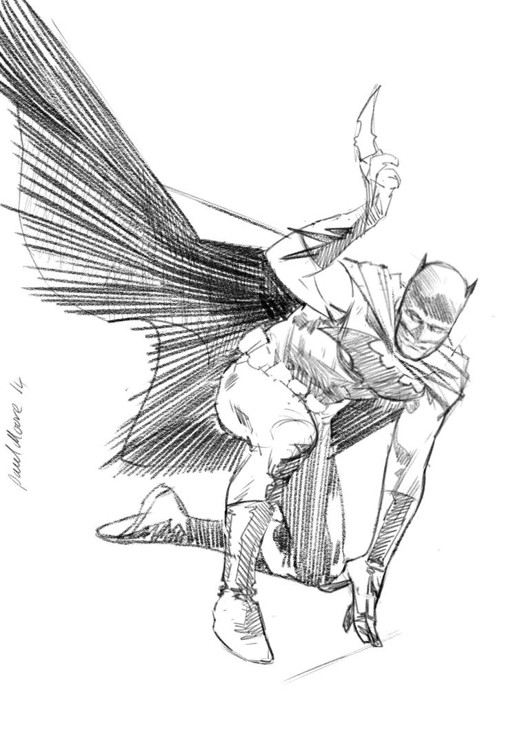 An old Batman touched up by Paul-Moore
