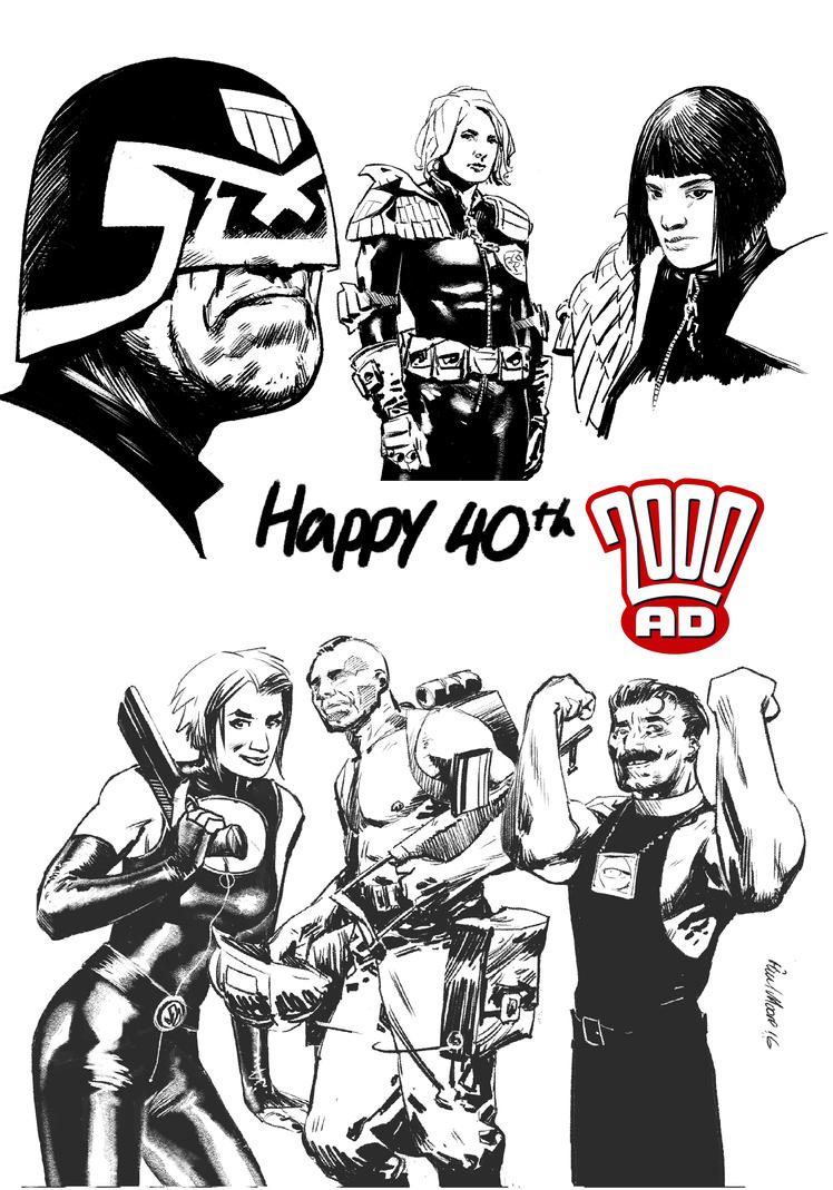 Happy 40th 2000ad by Paul-Moore