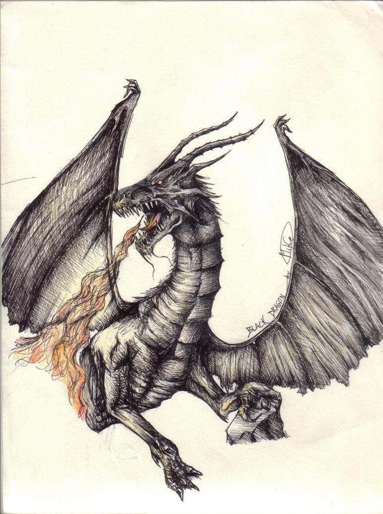 Black dragon by MikeAzevedo