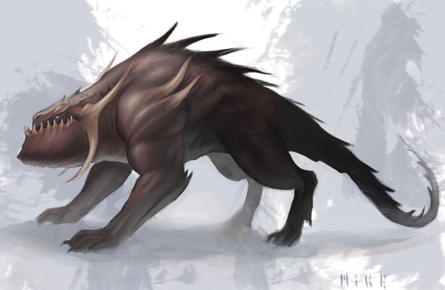 Creature concept by MikeAzevedo