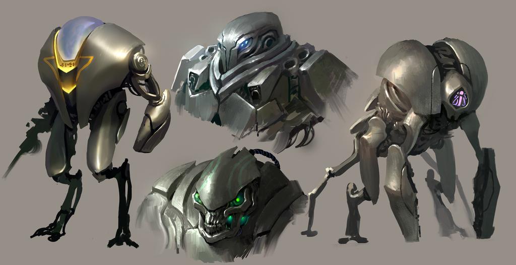 Robot designs by MikeAzevedo on DeviantArt