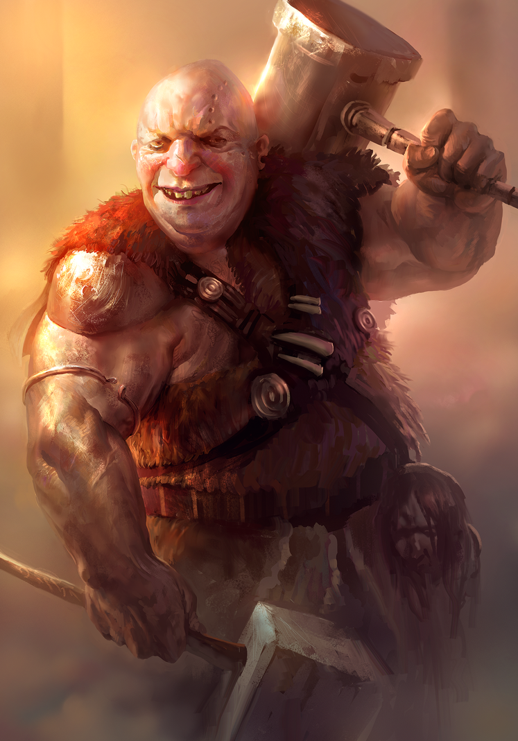 Barbarian dude by MikeAzevedo