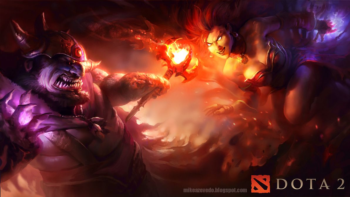 Lina vs Lion by MikeAzevedo