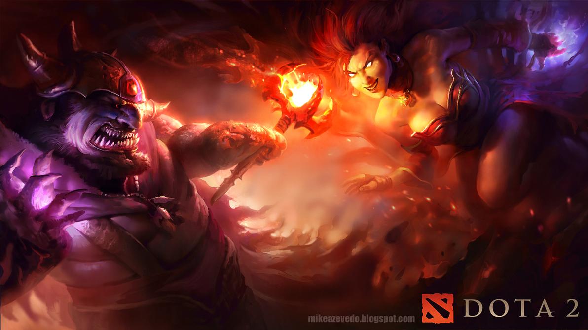 Lina vs Lion by MikeAzevedo