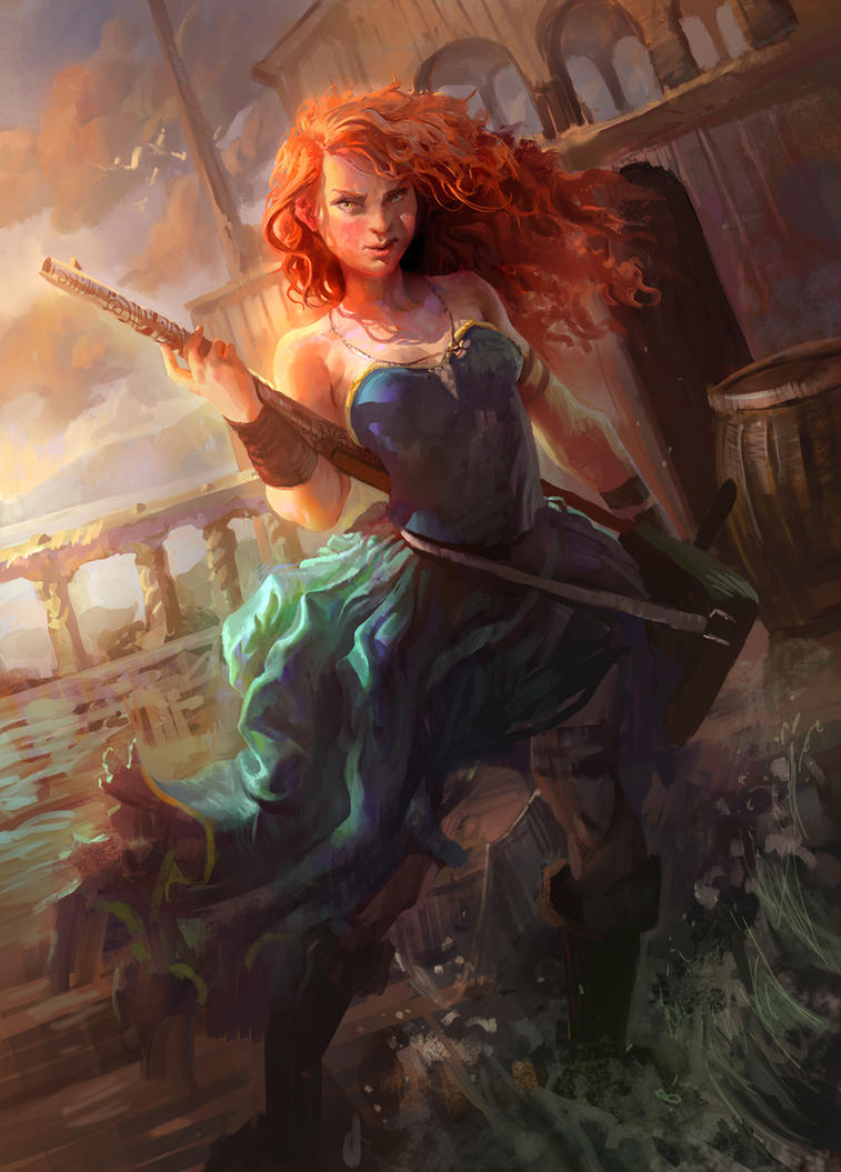 Pirate Merida by MikeAzevedo