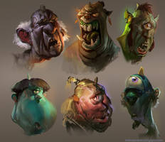 Ogre heads by MikeAzevedo