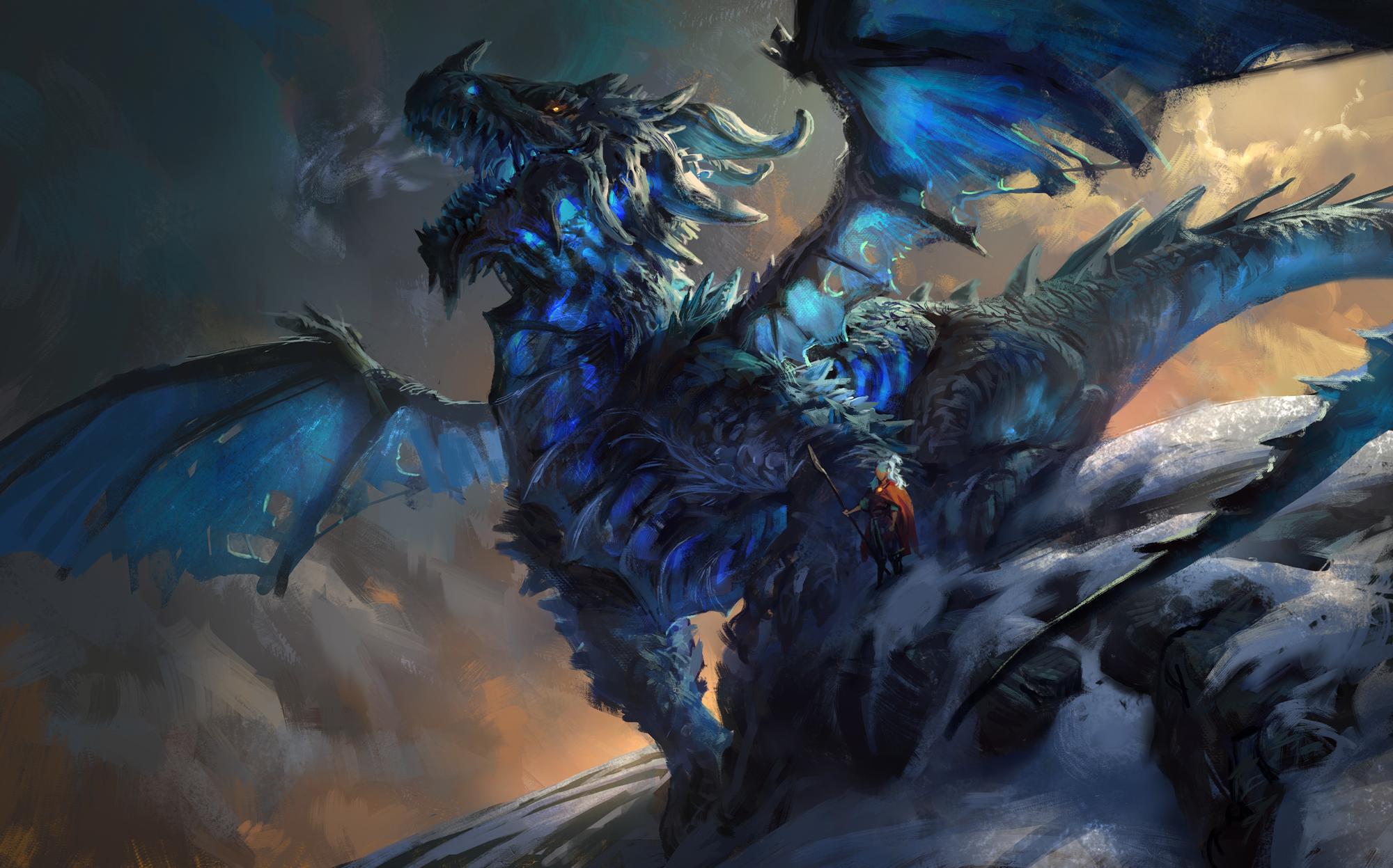 giant giant fire dragon vs ice dragon - photo #2