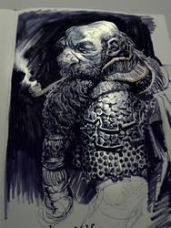 Dwarf sketch by MikeAzevedo