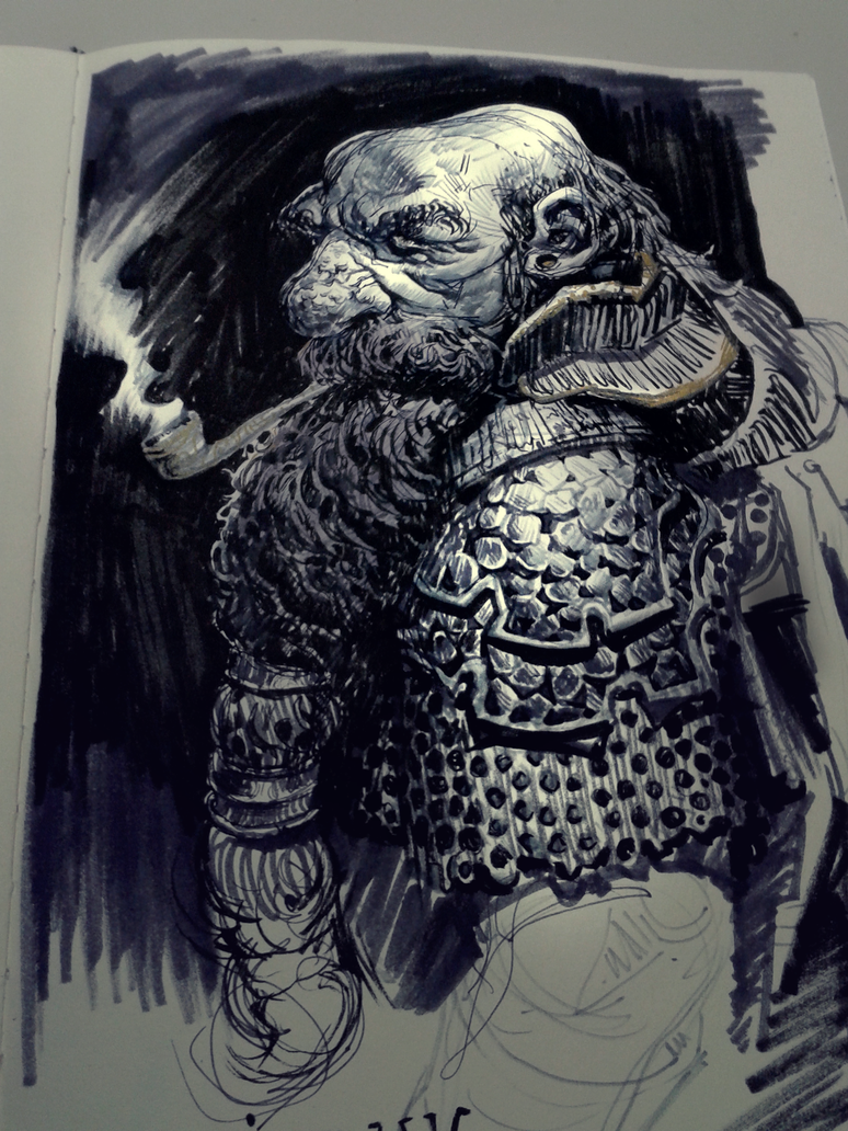 Dwarf sketch by MikeAzevedo