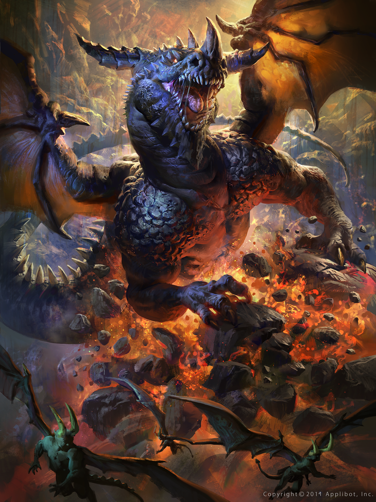 Sivan, the devil eating dragon (Advanced) by MikeAzevedo