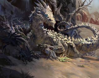 Desert Dragon by MikeAzevedo