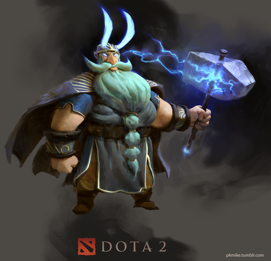 Zeus (Dota 2) redesign by MikeAzevedo