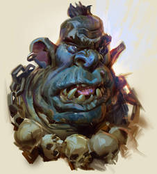 Ogre Portrait- with video process