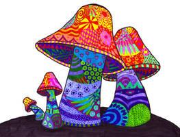 Mushrooms by suzukicat