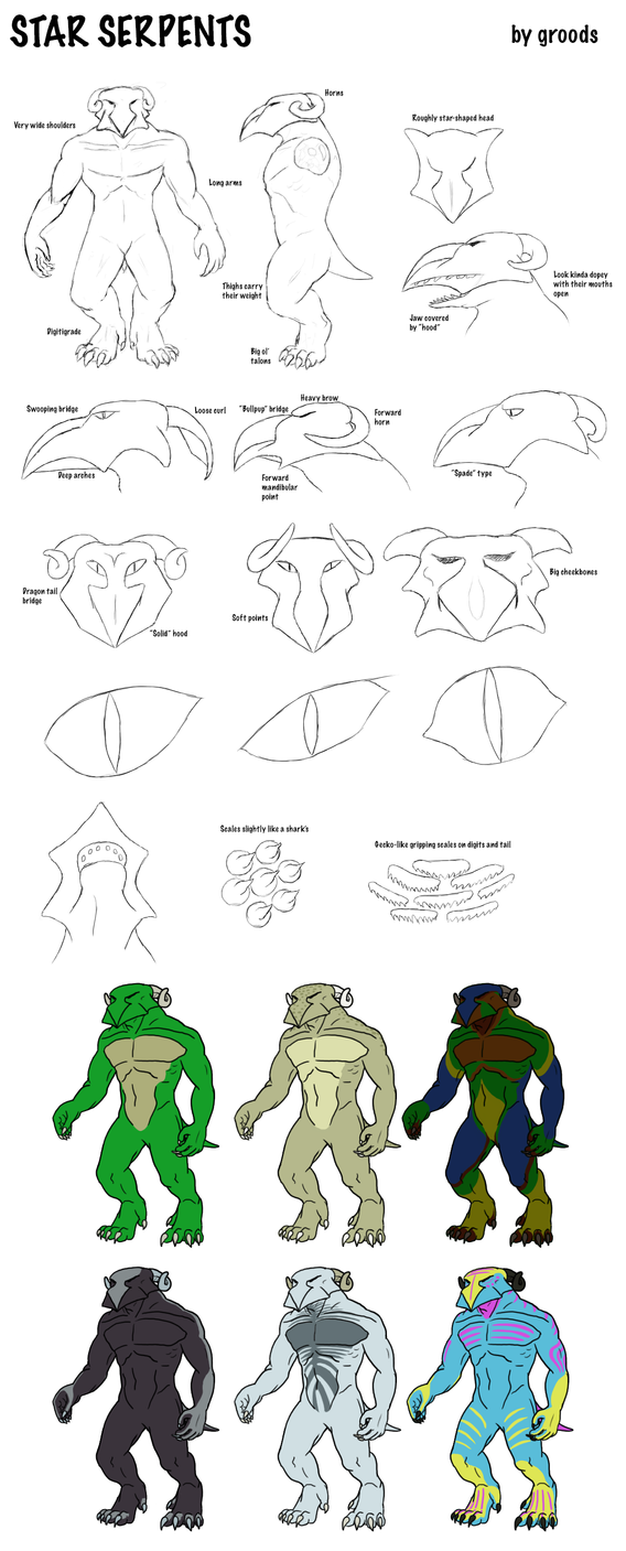 Preliminary Star Serpent reference by Groods