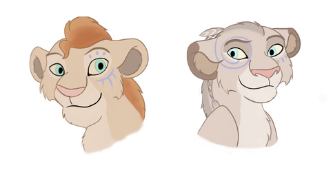 CE: Cubs for Tzion and Naba by Paint-Puff