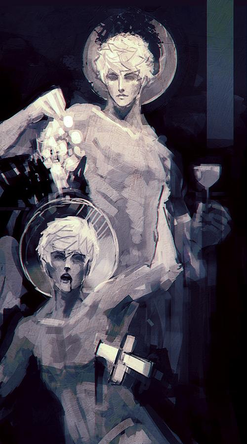 Dionysus x Thanatos by celadus