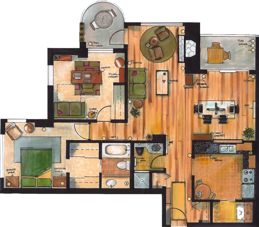 Apartment floor plan by phadinah on deviantart for Apartment 2d plans