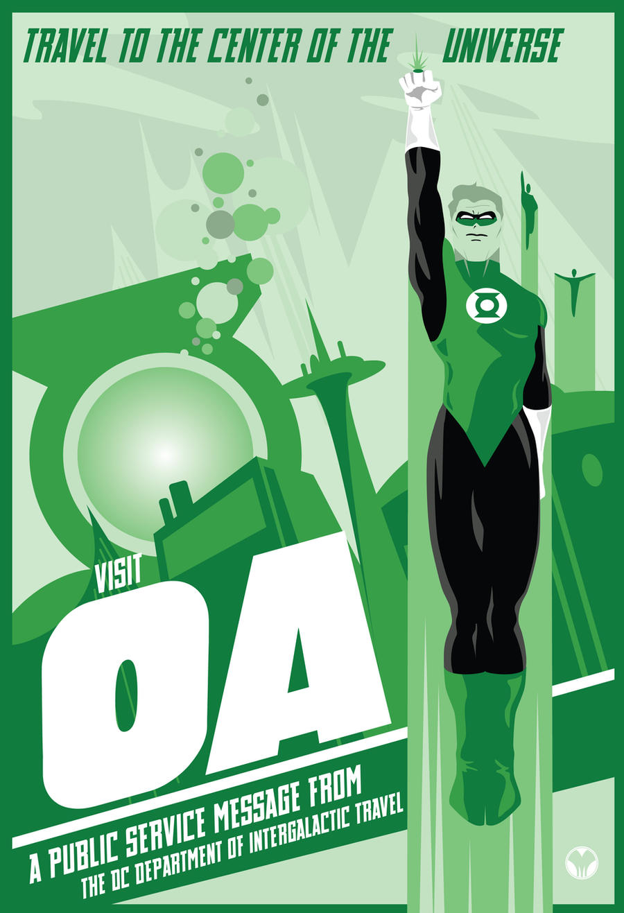 Green Lantern OA travel poster by MikeMahle