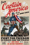 Captain America poster by MikeMahle