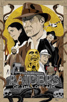 Raiders of the Lost Ark poster by MikeMahle