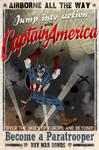 Captain America airborne poster