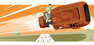 Star Wars TFA Rey's speeder by MikeMahle