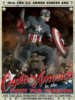 Captain America Armed Forces Recruitment poster by MikeMahle