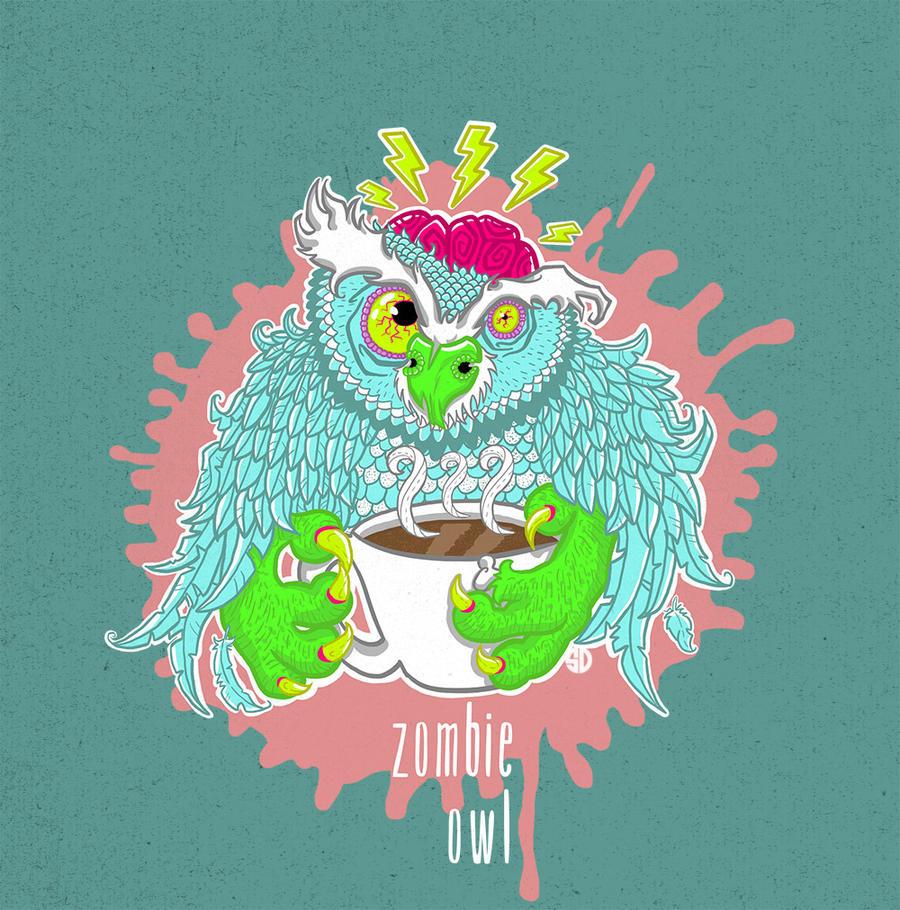 Zombie Owl by sylwia-dudek