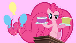 Pinkie Pie cake Assault by neodarkwing