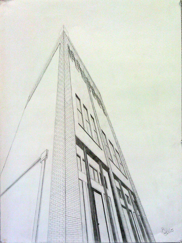 perspective drawings of buildings. 3-point-perspective-building by eptello perspective drawings of buildings d