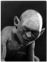 Portrait of Gollum by AllenP