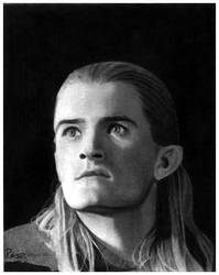 Portrait of Legolas by AllenP