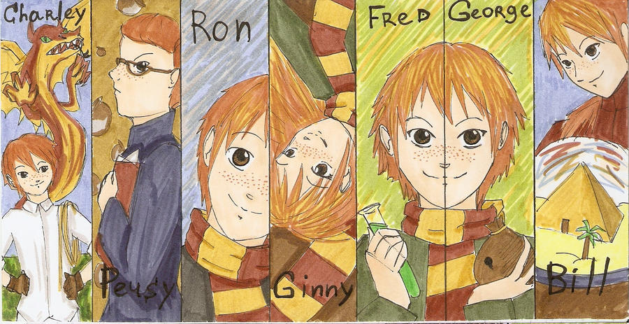Weasley Family by FG-Twins on DeviantArt