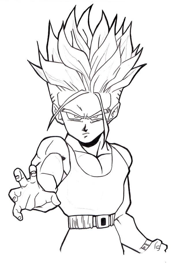 How To Draw Kid Trunks