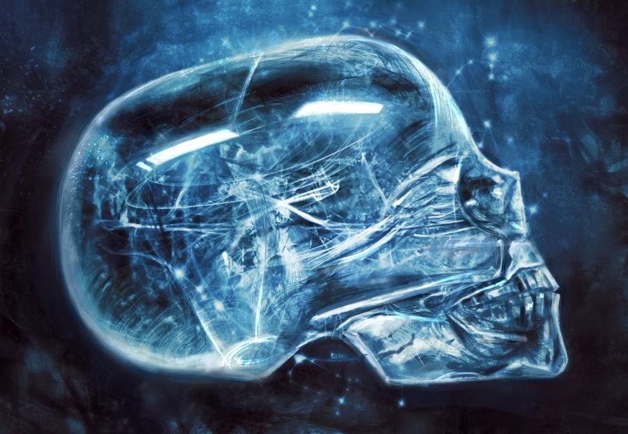 Crystal skull by LusiusMalfoy