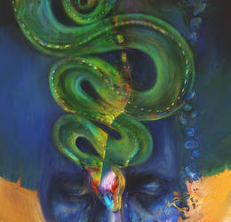 Green snake by Lusidus