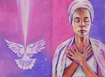 White dove by Lusidus