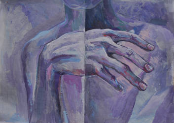 Violet hand by Lusidus