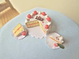 Raspberry cake by AGTCT