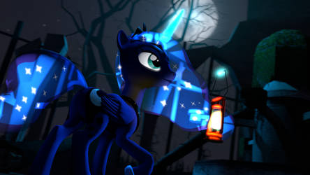 [SFM] Luna at Castle of the Two Sisters by AlicornTwilySparkle