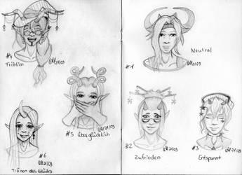 Sketchtember 2021 #01 - #06 Emotions