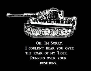 Tiger Motto by Der-Buchstabe-R