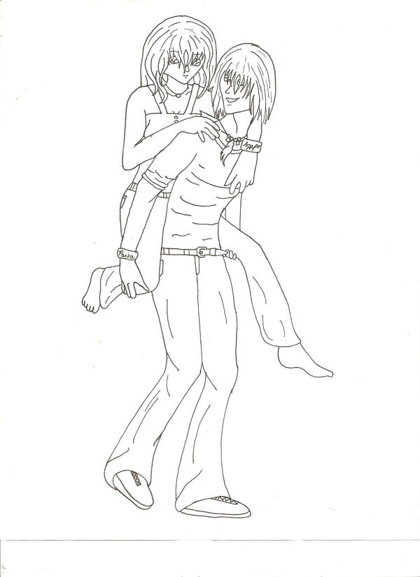Line Art Couple : Anime couple lineart by mean cat on deviantart